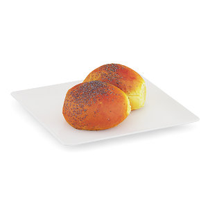 3d double bun poppy seeds