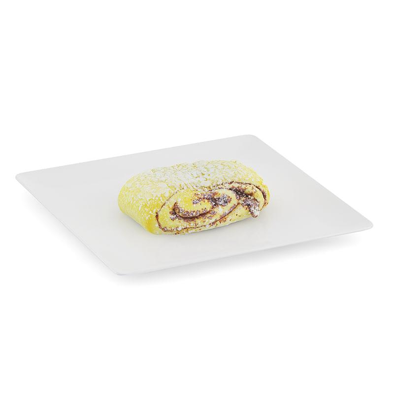 sweet bun white plate max