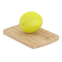 yellow melon wooden board max