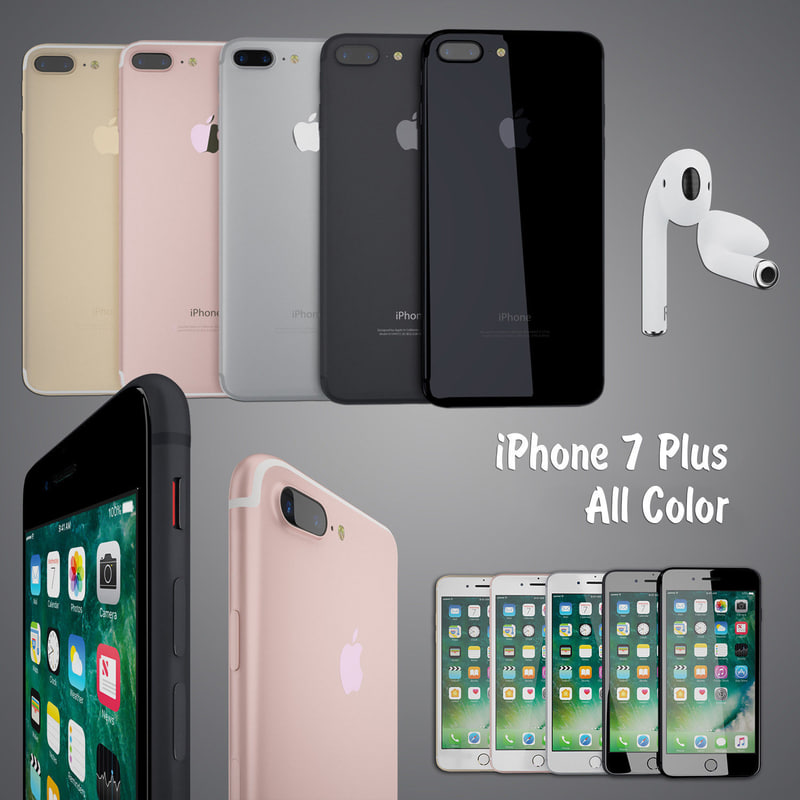 apple iphone 7 color 3d model