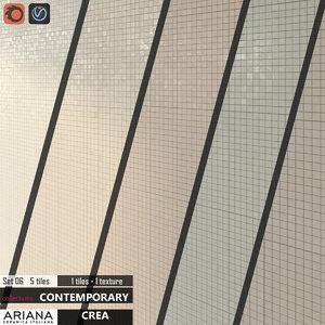 tile ariana crea set 3d model