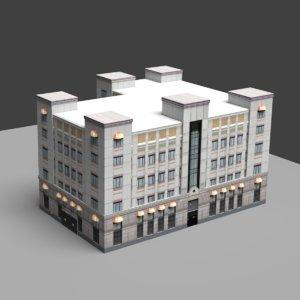 modern building 3d 3ds