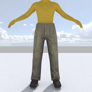 pants 3d 3ds