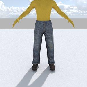 3d model pants