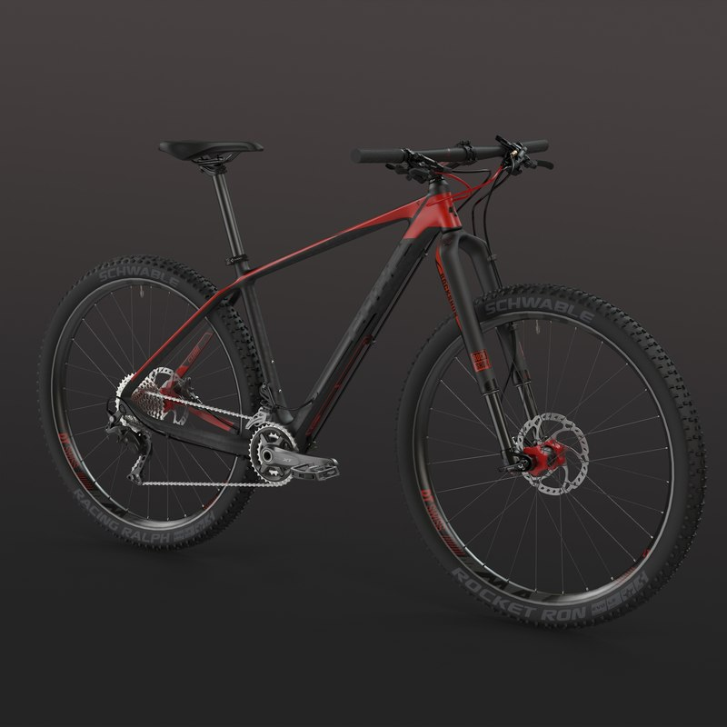 mtb hardtail bicycle cube 3d max
