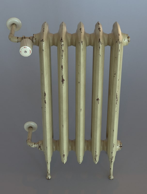 iron radiator 3d max