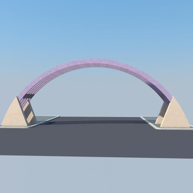 free gate entrance 3d model