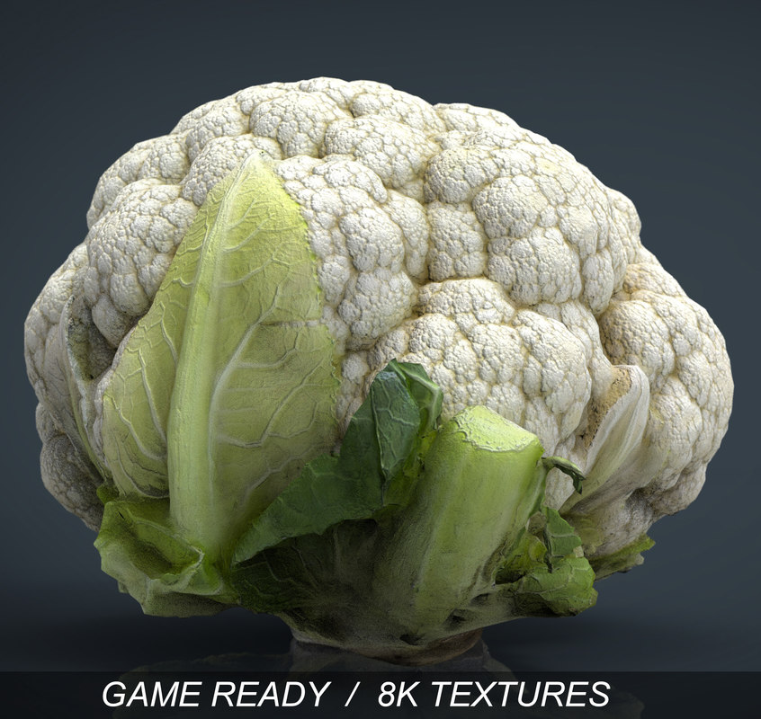 3d cauliflower