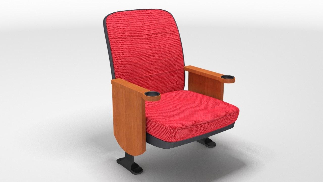 3d theatre suite chair model