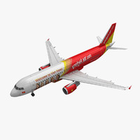 3d model airbus a320 vietjet air