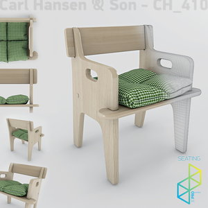 3d model peter s chair wood