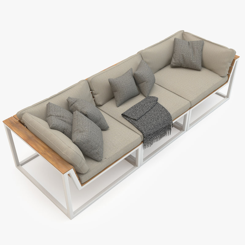 mudo sofa set 3d model