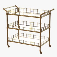 3d trolley scarlett brass finish