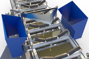 shoot conveyor belt 3d model