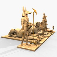 3d model of ancient egypt statues