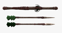 3d fantasy tribal weapons -