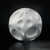 abstract voronoi sphere 01 c4d
