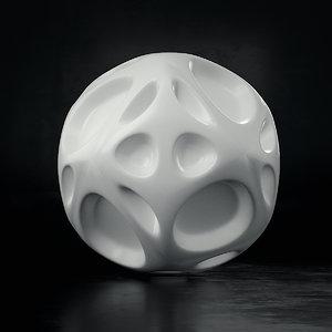 abstract voronoi sphere 01 c4d