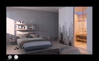 3d scene interior bedroom bed