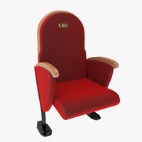 3d model theatre chair