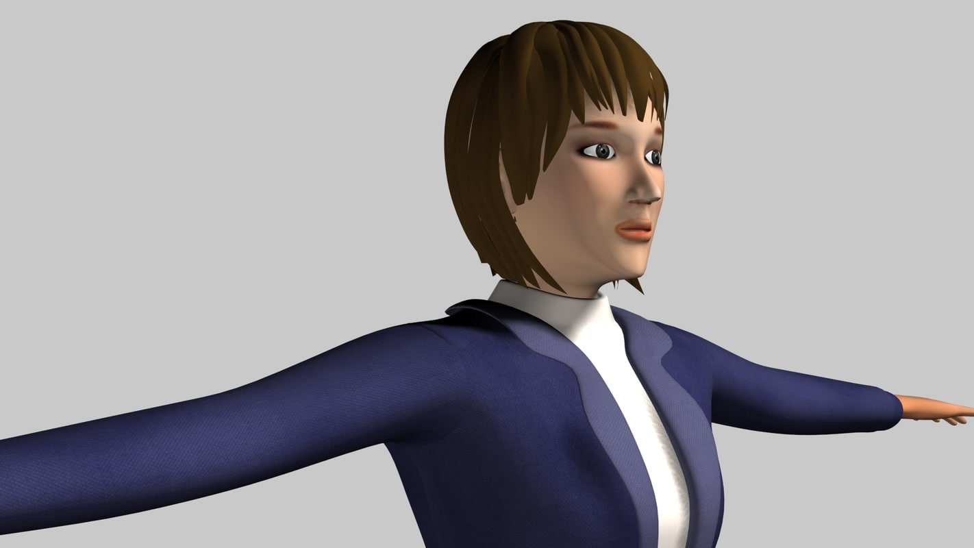 3d max worker character