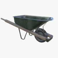 3d model pbr wheelbarrow