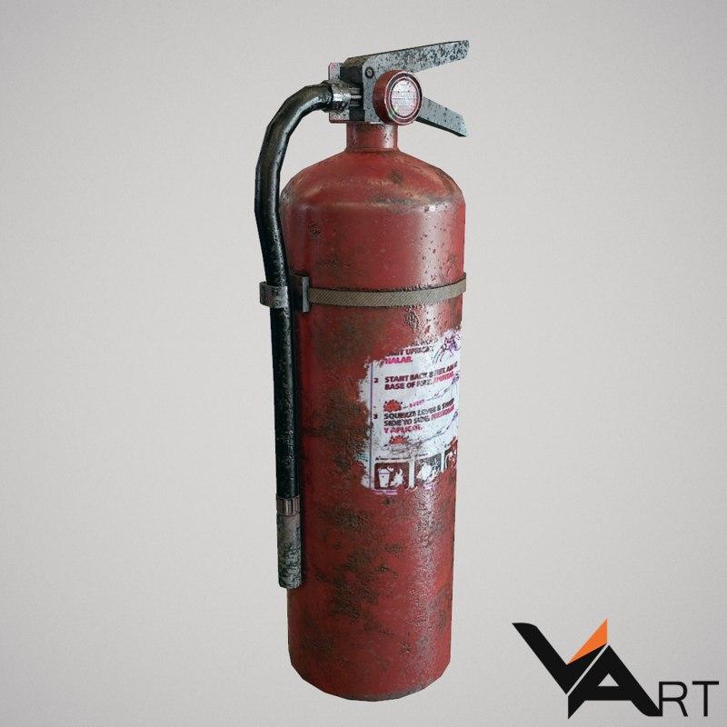 free extinguisher 3d model