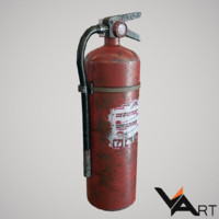 free extinguisher 3d model