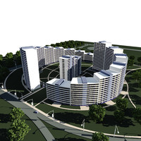 concept residential complex 3d max