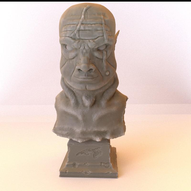 3d alien warlord