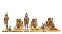 ancient egypt statues 3d max