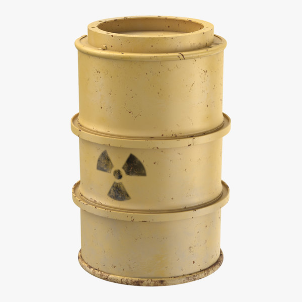 3d toxic waste drum 01 model