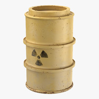 3d toxic waste drum 01 model