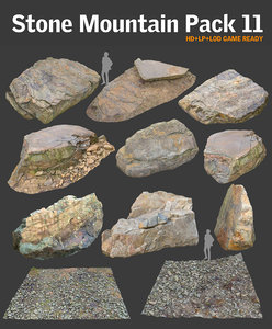stone mountain pack 3d obj
