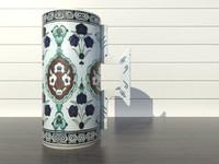 3d model of tankard iznik ceramics