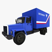 russian post gaz 3307 3d model
