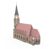 3d st leopold s church model