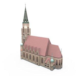 3d st leopold s church model