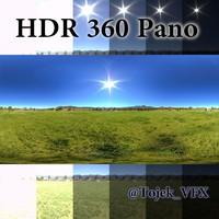 HDR 360 Pano Sky05 Desert Grass