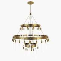 max restoration axis three-tier chandelier