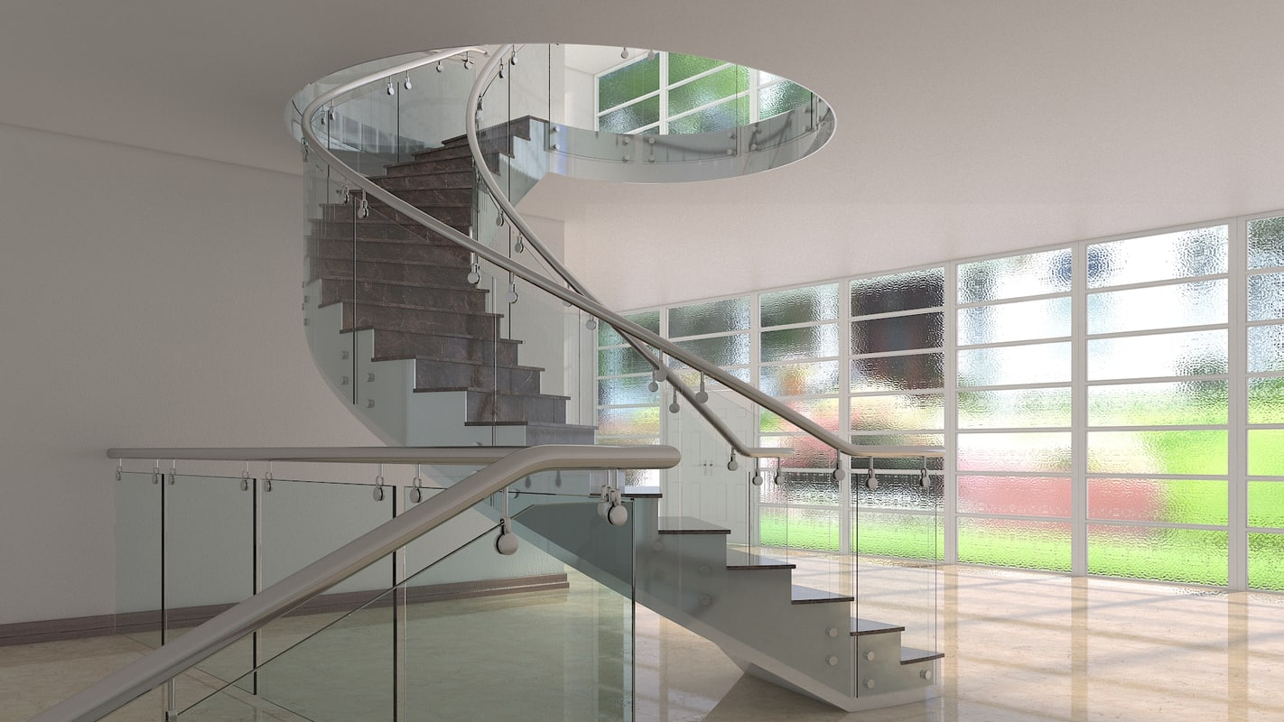 3d model staircase interior