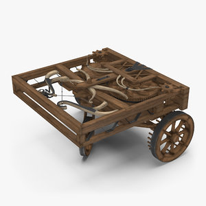 3d model leonardo da vinci automobile