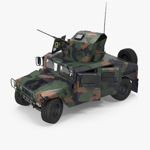 3d max humvee m1151 enhanced armament