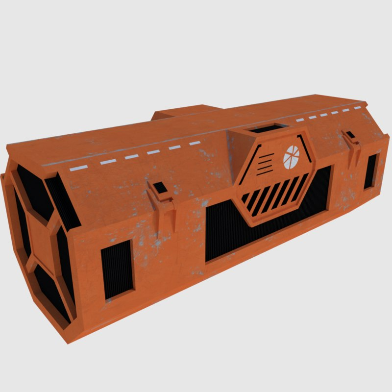 kyber transport container - 3d model