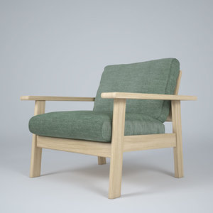 bruno armchair 3d max