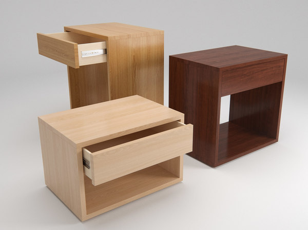 free obj mode cube modern bedside drawer