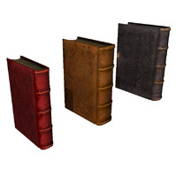 3 Medium Poly Books