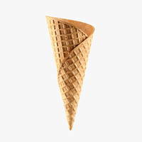 cone waffle 3d max