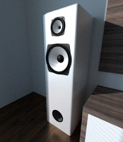 3d model speakers retro boxes