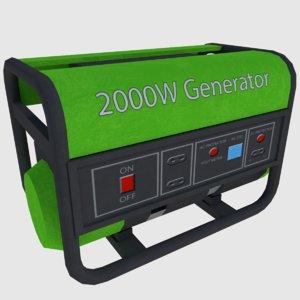 3d power generator games - model